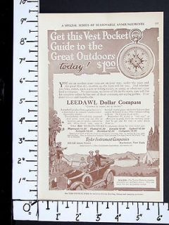 1917 TAYLOR INSTRUMENT Leedawl Pocket Dollar Compass magazine Ad