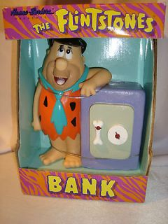 1992 FRED FLINTSTONE WITH SAFE HANNA BARBERA COLLECTIBLE BANK TOYS