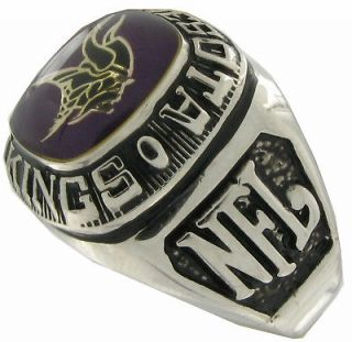 Balfour Ring Boxed Football Offical Nfl Minnesota Vikings Sz 7