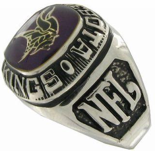 Balfour Ring Boxed Football Offical Nfl Minnesota Vikings Sz 7