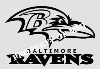 Baltimore RAVENS Style#3 Vinyl Decal Window Car Wall Truck Man Cave