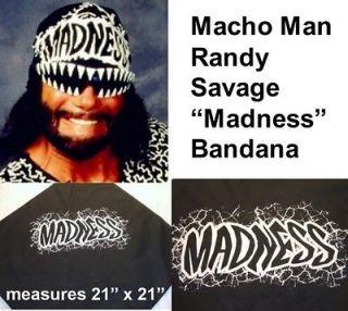 MACHO MAN Randy Savage MADNESS Black Bandana