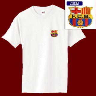 FC BARCELONA Football Soccer Patch Shirt WHT S XL 14.99