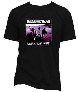 BEASTIE BOYS CHECK YOUR HEAD SUPER STAR T SHIRT COOL TRENDY WHITE