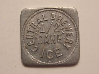 CENTRAL BREWERY GOOD FOR 1/2 CAKE ICE BEER BREWERY ALCOHOL TOKEN