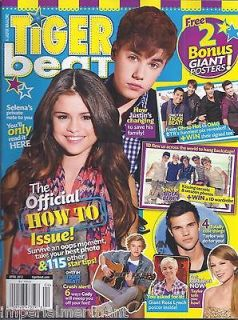 TIGER BEAT MAGAZINE How to issue Selena Gomez Justin Bieber One