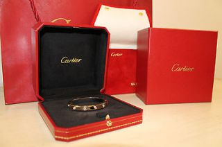 Yellow Gold 10 Diamond LOVE Bracelet Size 16 BEAUTIFUL HOLIDAY GIFT