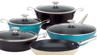 Mario Batali by Dansk 3PC Light Enameled Cast Iron Cookware Set