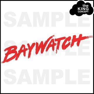 Baywatch Logo Iron On T Shirt Transfer for Lifeguard Look Freshers