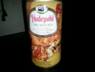 old hudepohl beer can 1975 world champs cicinati reds pete rose