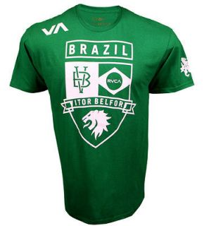 FIGHT T SHIRT VA RVCA MEDIUM UFC 142 WALKOUT VITOR BELFORT GREEN MMA