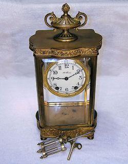 Seth Thomas Antique Mantel Mantle Clock Crystal Regulator Empire No. 7