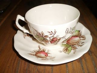 JOHNSON BROTHERS HARVEST TIME FINE BONE CHINA TEA CUP AND SAUCER