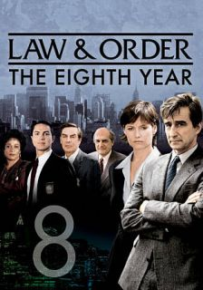 Law Order The Eighth Year DVD, 2010, 5 Disc Set