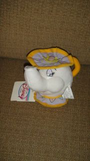 Disney Mini Bean Bag MRS POTTS Teapot Beauty Beast Stuffed Plush WT