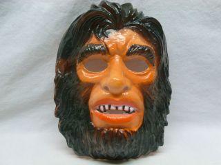 Vtg Retro Ben Cooper Adult Halloween Costume Mask Ape Apeman Wolfman