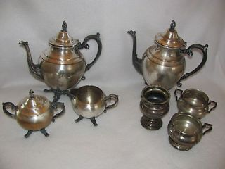 BENEDICT SHEFFIELD & WM A. ROGERS SILVER NICKEL PLATE COFFEE TEA