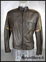 BELSTAFF Mens Jacket Leather L IT 713074 Hero Jkt Man Black Brown
