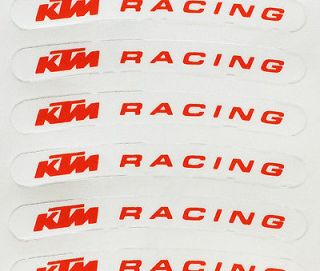 10x KTM Rim Sticker Decal Racing excel exc warp wheel g force tire
