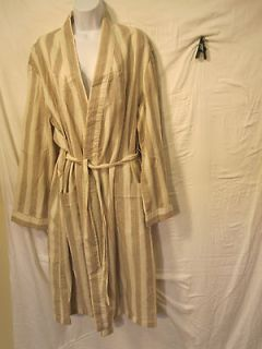 Derek Rose Exclusively for Bullock & Jones Robe Cotton Linen Size M to
