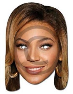 Celebrity Fancy Dress Mask Beyonce Knowles Card Mask Nw