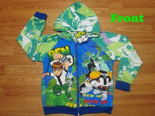 Ben 10 Hooded Spring Jacket #003 Green Size XL age 10 12