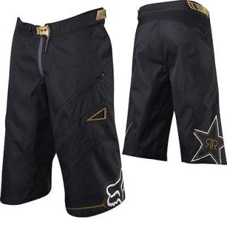 Racing Rockstar Demo Mountain Bike MTB DH Cycling Shorts Black Gold
