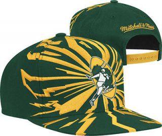 Green Bay Packers Snapback Hat Mitchell & Ness NJ32Z