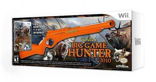 CABELAS BIG GAME HUNTER 2010 (GAME & TOP SHOT GUN) NINTENDO WII VIDEO