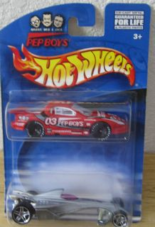 2000 Pep Boys Exclusive 2 Car Set Firebird & Hammered Coupe Hot Wheels