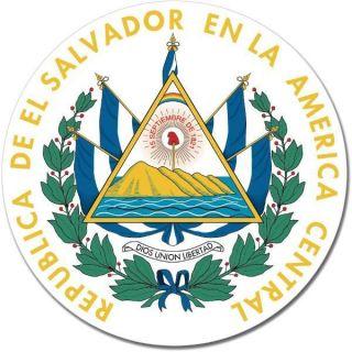 El Salvador Coat of Arms Emblem Wall Window Car Sticker Decal Mural
