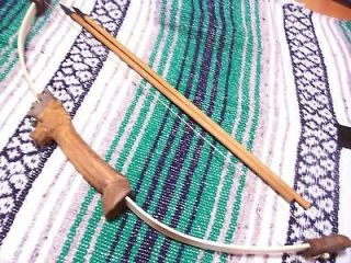 Kids Carved Deer Tribal Bow and Arrow Hunting Archery