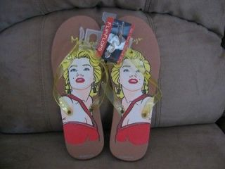Adults MARILYN MONROE SANDALS/FLIP FLOPS NWT Large