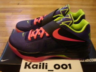 Nike Air Zoom KD IV ID Size 11.5 BHM Galaxy All Star Weatherman Easter