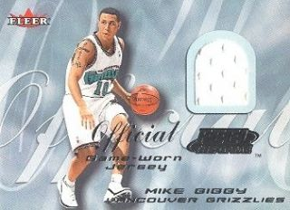 2000 01 Fleer Feel the Game Jersey Mike Bibby Vancouver Grizzlies
