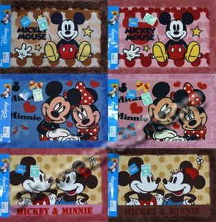Disney Mickey Minnie Mouse Bath Mat Floor Rugs 100% Polyester Rubber