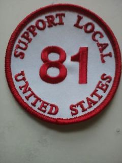 HELLS ANGELS SUPPORT 81 USA Patch & Sticker SET