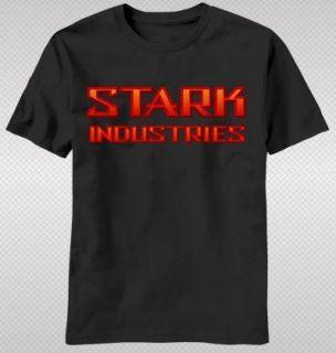 NEW Iron Man Tony Stark Industries Company Logo Title Avengers T shirt