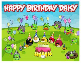 Custom Angry Birds Image Birthday Cake Decoration Birthday CupCakes