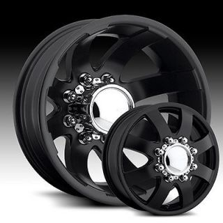 EAGLE 097/098 17x6 BLACK WHEELS RIMS DUALLY FORD F350