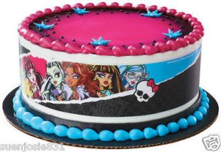 MONSTER HIGH FROSTING SHEET EDIBLE CAKE TOPPER IMAGE DECORATIONS