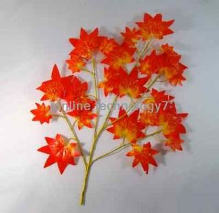 Newly listed 12pcs Maple BRANCH TREE SPRAY ARTIFICIAL PLANT 300pcs
