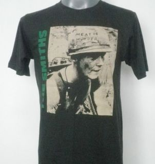THE SMITHS MEAT IS MURDER T SHIRT BLACK SIZE S M L
