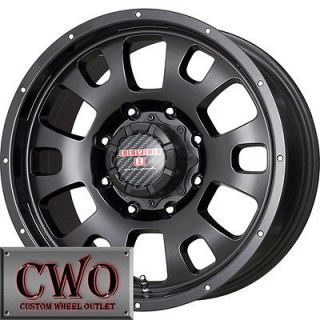 17 Black Guardian Wheels Rims 6x114.3 6 Lug Pathfinder Xterra Durango