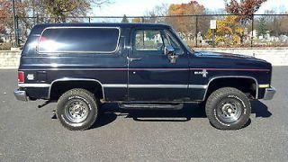 Chevrolet  Blazer Silverado 1986 Chevrolet K 5 Blazer 4x4