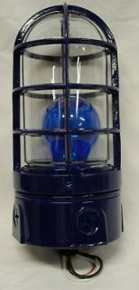 BLUE POLICE CALL BOX CAGED LIGHT
