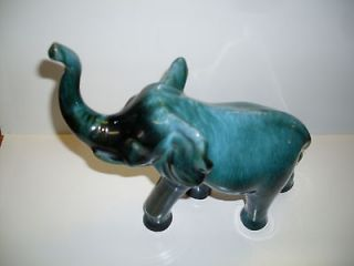 BLUE MOUNTAIN POTTERY LARGE TRUNK UP ELEPHANT