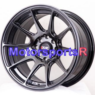 16 16x8.25 XXR 527 Chromium Black Concave Wheels Rims 4x100 84 87 88