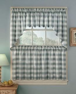 blue plaid curtains in Curtains, Drapes & Valances