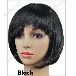 Fashion Lady Party Fancy Dress Short Straight BOB Fake Hair Wig New